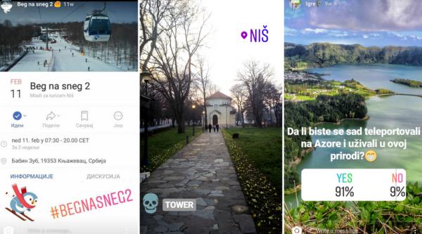 instagram story turizam
