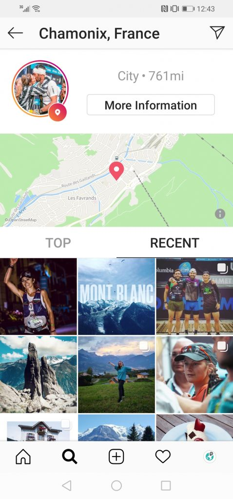 chamonix instagram location