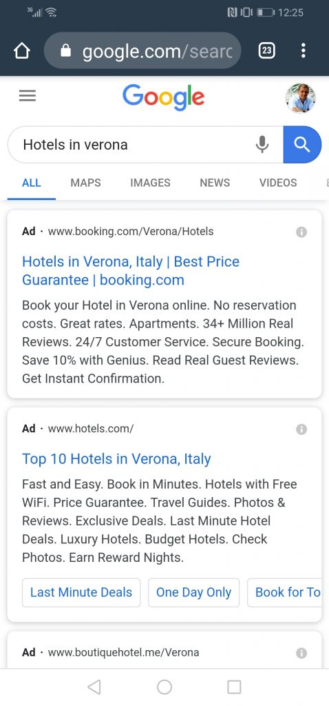 google ads on mobile